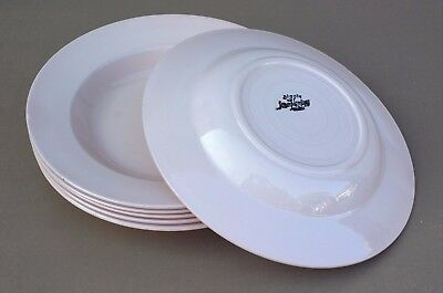 6 assiettes creuses DIGOIN rose ancienne vintage table french dishes soup #2