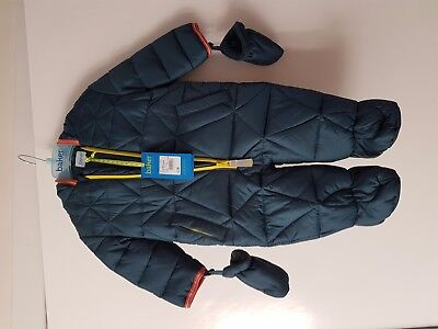 New With Tag Ted baker Cire Prt Baby Boy Snowsuit & Mitt Age 3-6 Months