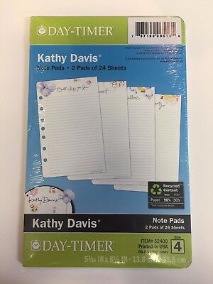 Day-Timer Planner Note Refill Pages Kathy Davis Floral 2 Pads 24 Sheets