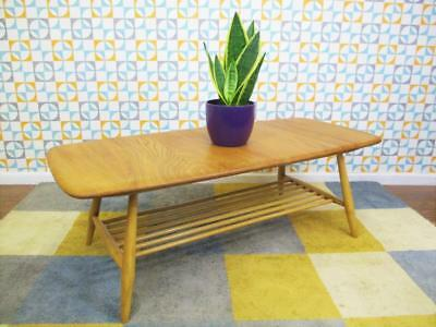 Vintage Ercol Windsor Solid Elm Wood Golden Coffee Table Mid Century Retro Home