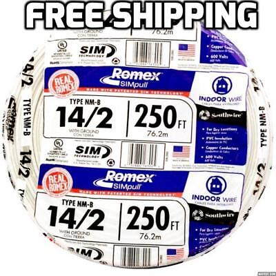 ROMEX 250\' Roll 14-2 AWG Guage NM-B Indoor Electrical Copper Wire ...