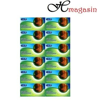 12 PACKS OF OFFICIAL CARE GLYCERIN SUPPOSITORIES 4g 12'S **FREE DELIVERY**