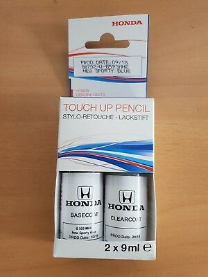 Genuine Honda New Sporty Blue Touch Up Paint B593M