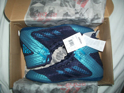 Adidas Speedex 16.1 blue boxing boots mens size 10 brand new in box with tags
