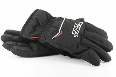 No Fear Ski Winter Snow Gloves Waterproof Black with Red and White
