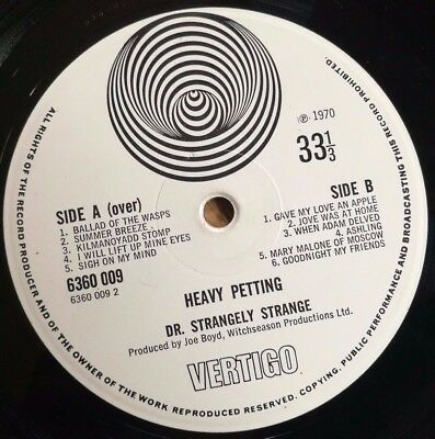 Dr Strangely strange LP Heavy Petting UK Vertigo swirl 1st press FULL PLAYGRADE+