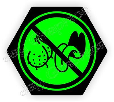 Funny NO BAG LICKERS Hard Hat Sticker | Hexagon Welding Helmet Biker Decal Label