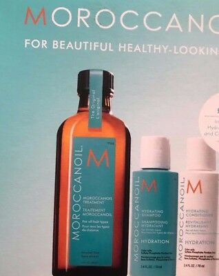 moroccanoil 100ml with free shampoo & conditioner  with gift bag