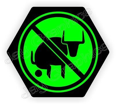 Funny No Bullshit Hard Hat Sticker / Biker Helmet Decal Bull BS Foreman Laborer
