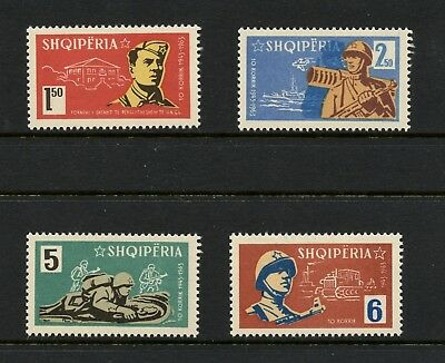 Albania 1963  #676-9  army soldiers military    4v.  MNH  L288