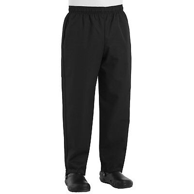 Red Kap Mens Baggy Chef Cook Pants, Black