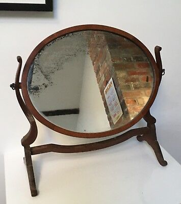 Old Vintage Bedroom Swivel Dressing Table Mirror with Foxing Foxed Glass