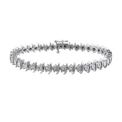 "1/2 ct. tw. Diamond April Birthstone7 1/4"" Tennis Bracelet in Sterling Silver"