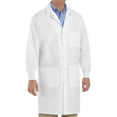 Red Kap Cuffed Lab Coat, White