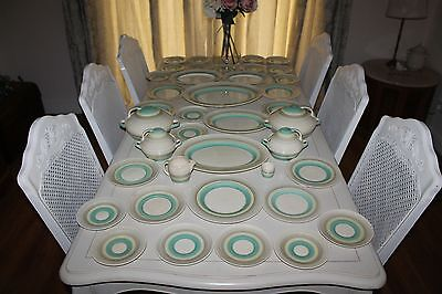 LARGE COLLECTION SUSIE COOPER Art Deco Dinner Plates,Tureens,Wedding Ring Set