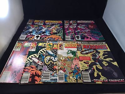 EARLY Marvel 1980's MICRONAUTS Comic Book LOT X 9 Issues VF BRONZE AGE Stan Lee
