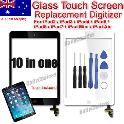 Digitizer Replacement Front Glass Touch Screen Lens for iPad Air 1 2 Mini iPad 3