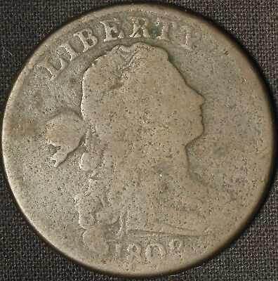 1802 Draped Bust Large Cent  - Stemless Wreath - Free Shipping USA