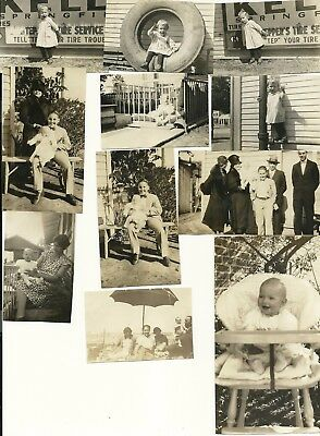 """Vintage 1920's Photograph Lot of 11 """"Darling Little Girl"""""""