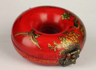 "4.5""China Vintage Collection Old Handmade Excellent Packing Wood Box Jewelry box"