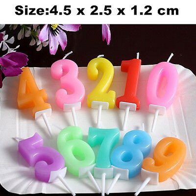 Age Birthday Candles Colorful Party Anniversary Cake Decoration