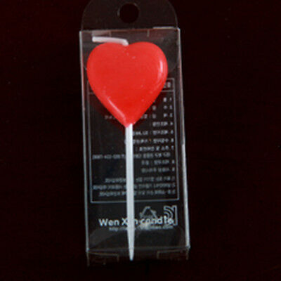 Heart Birthday Candle Stick Anniversary Wedding Engagement Party Cake Topper