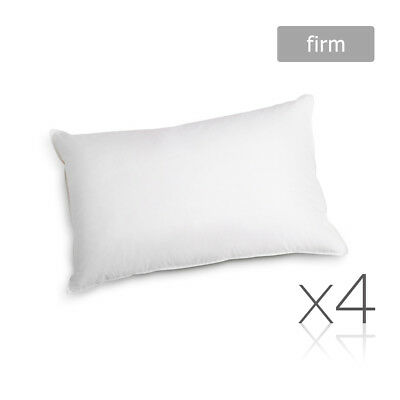 4x Pillows Polyester Neck Back Support Home Bedding Sleep 73x48cm FIRM