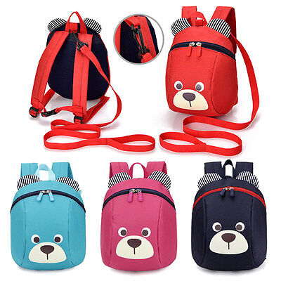 Anti-lost Mini Cute Children Kid Safety Harness Backpack Bag Baby Walking Helper