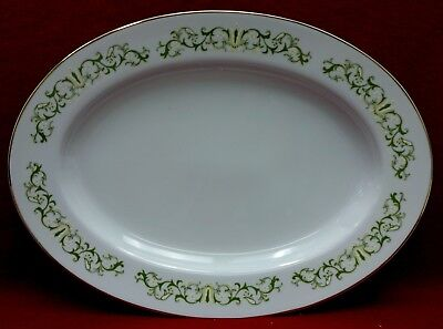 FINE CHINA OF JAPAN china BELL FLOWER pattern Oval Serving Platter - 12-1/4""