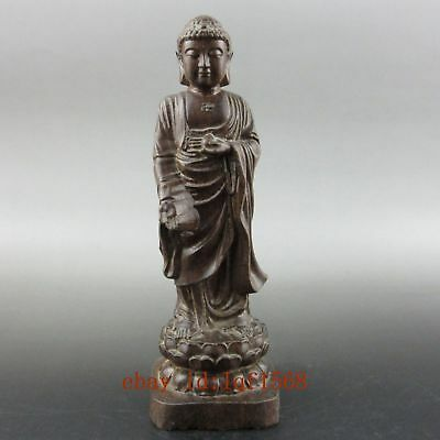 Old Chinese agalloch eaglewood wood hand-carved bodhisattva statue