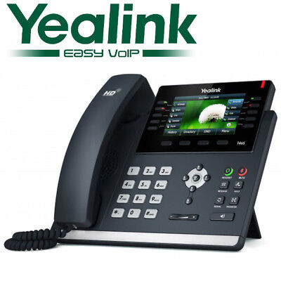 Yealink SIP-T46S Gigabit IP VoiP Phone 16 Line Telephone Opus Color Optima HD