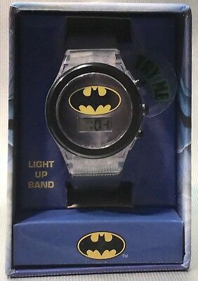 BATMAN Children's Digital LCD Watch With Light Up Band - NEW - Holiday Gift!