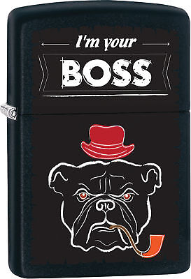 I am Your Boss Bulldog Personalized Customize Message Zippo Lighter