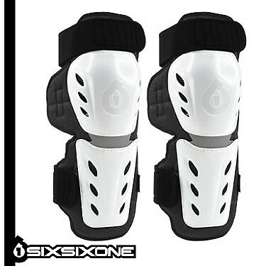 SixSixOne Moto Knee Shin Guards MX BMX Mountain Bike Youth & Adult (pair)