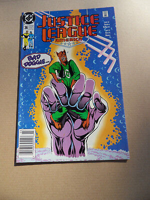 Justice League 36 . (...America #26 on) Bad Doggie . DC 1990 . VF - minus