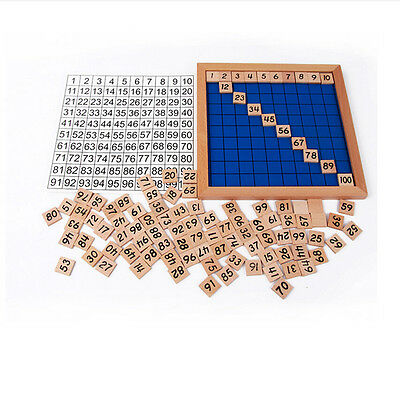 Education Wooden Toys 1-100 Digit Cognitive Math Toy Early Learning Gift、Pop