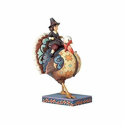 Enesco Jim Shore Heartwood Creek Pilgrim Riding Turkey