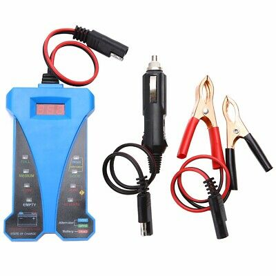 1Set 12V Smart Digital Battery Tester Voltmeter Alternator Analyzer Car Vehicle