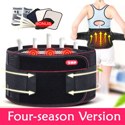Magnetic Lumbar Lower Back Support Belt Brace Strap Pain Posture Waist Trimmer H
