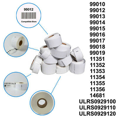 1 2 3 5 10 20 40 50 100 Rolls Dymo / Seiko Compatible Labels 99010 99012 99014