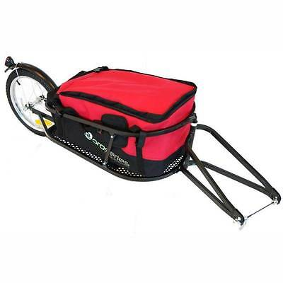 Pro Series Single Wheel Towable Bike Cargo Storage Bicycle Trailer RED