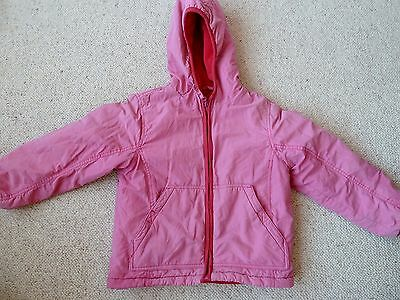 Mini Boden Girls Hooded Jacket Winter Coat Size 5-6 Years With Fleece Lining