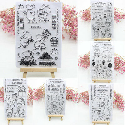 Clear Silicone Rubber Stamps Scrapbooking Embossing DIY Handcrafts Decoration