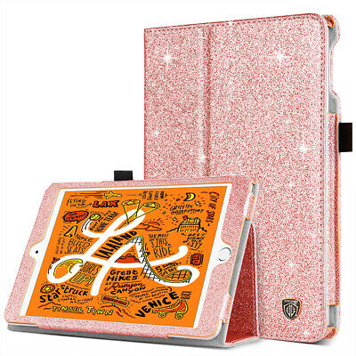 For Apple iPad Smart Auto Sleep Folio Case Glitter Bling PU Leather Hard Cover