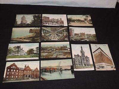 Vintage Postcard Lot Cleveland Ohio Public Square Hotel Arcade &more  *2245