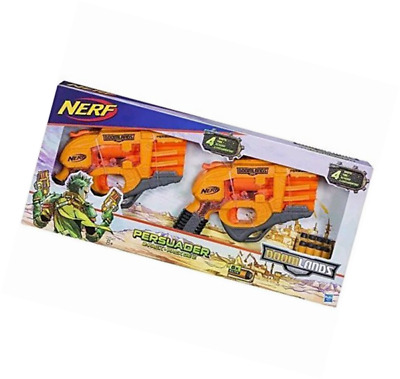 ... NEW NERF DOOMLANDS 2169 Persuader Blaster 2 Pack with 8 x Elite Darts