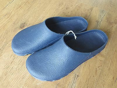 Mens Gents Blue Garden Clogs 42/43 UK 8 / 9 Plastic Slip On Shoes Patio