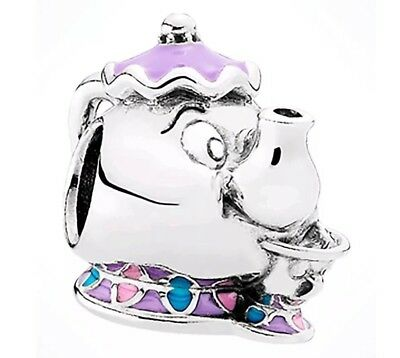 Genuine Disney Pandora Charm Mrs Potts and Chip Beauty And The Beast