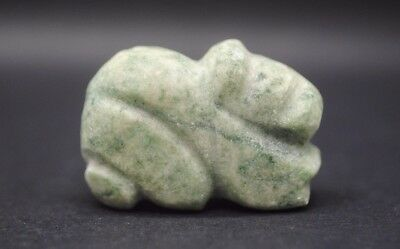 Green hardstone ancient Egyptian style animal amulet