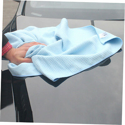 New High Quality Car Drying Towel Blue Waffle Weave Microfibre 60 x 80cm P1